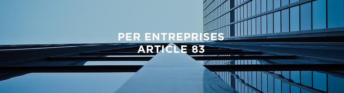 PERE ENTREPRISES (Article 83)