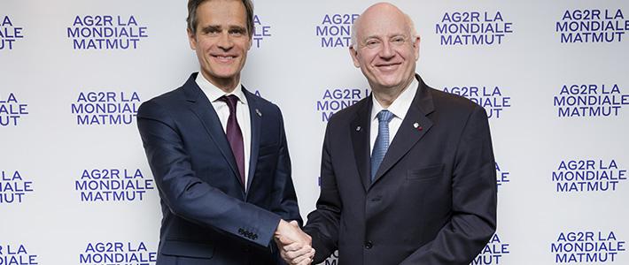 Naissance d'AG2R LA MONDIALE MATMUT, 1er groupe de protection sociale en assurances de personnes et de biens